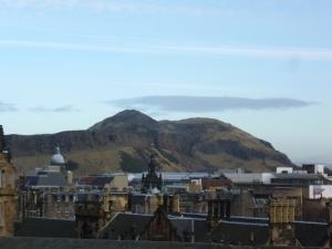 Arthurs Seat from Edinburgh Castle