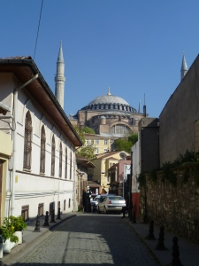 View of the Hagia Sophia from the hostel