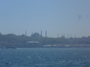 View from the Modern Art Gallery - Hagia Sophia and Blue Mosque
