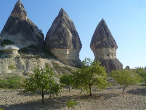 valley around Goreme - fairy chimneys