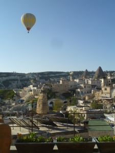 hot airballoon over Goreme