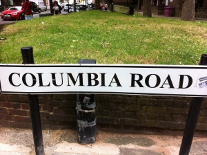 Columbia Road street sign