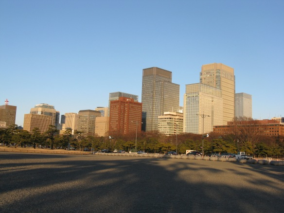 The Tokyo skyline from the Imperial Palace