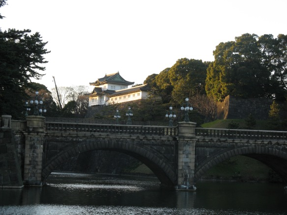 The Imperial Palace in Tokyo, hidden from prying eyes.