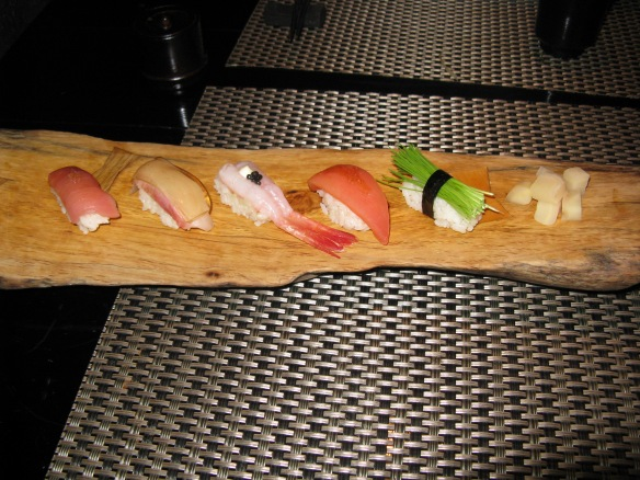 Sushi from Ninja restaurant - one of the most expensive and bizarre meals ever!