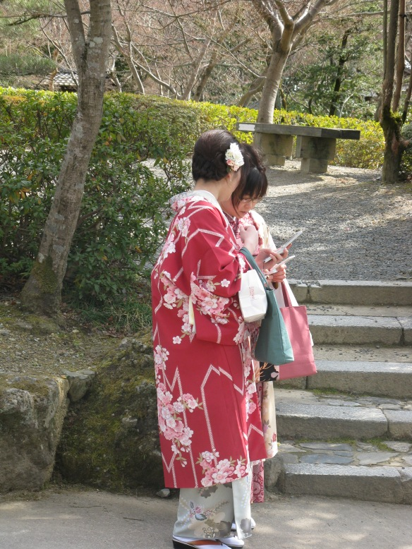 Girls dressed in traditional Kimono