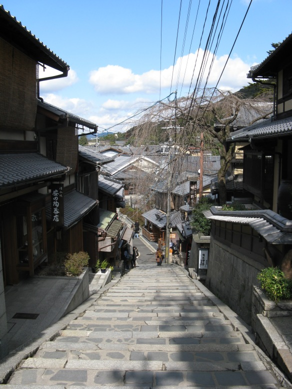 The traditional buildings of Kyoto