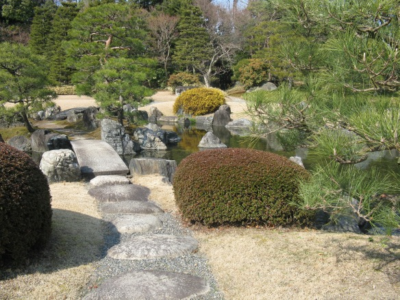 These are the gardens at the Imperial Palace in Kyoto - stunning!