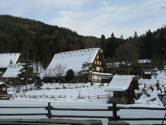 Being in the mountains there was a fair bit of snow - this is the Takayama open air museum full of traditional built houses.