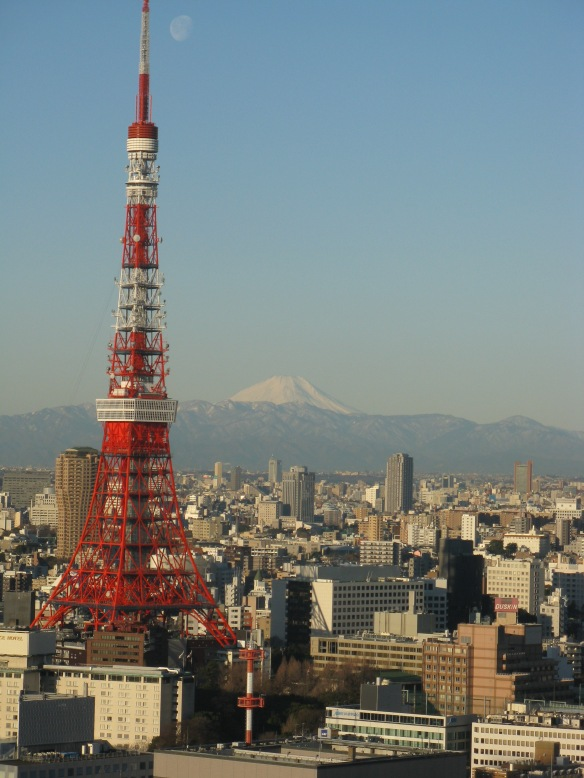 As we checked out of the hotel we got this view from reception - Mt Fuji and the Tokyo tower from the hotel - stunning! A great way to say good bye to Japan
