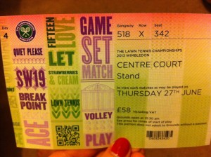 Wimbledon Ticket