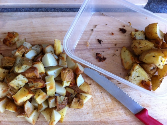 The left over potatoes