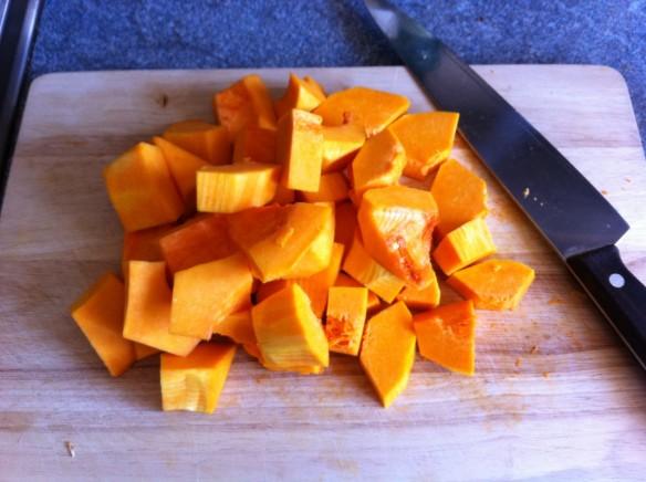 Chop the butternut