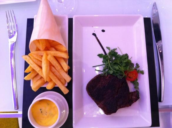 Steak frites! yum!