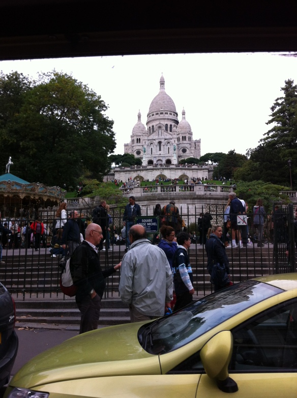 The sacre coeur from the petit train