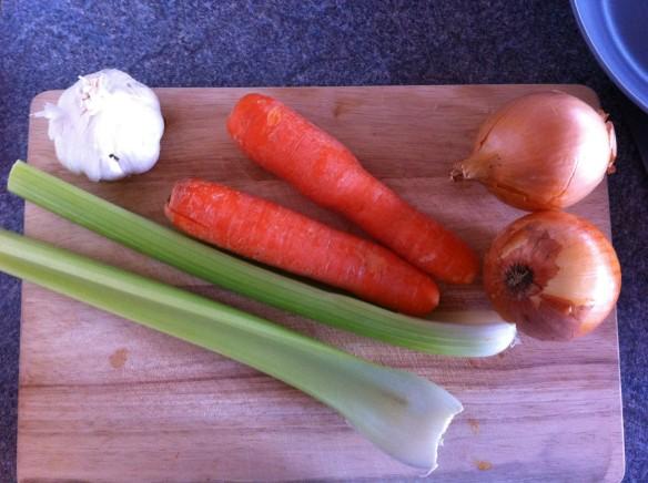 Getting my veggies ready