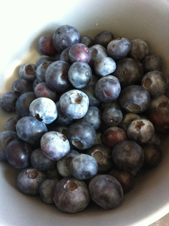 Yummy blueberries, I could just eat the whole bowl!