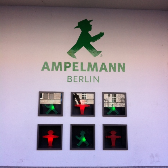 One of my favourite things about Berlin is the Amplemann - the little green chap with a very cool hat on. He is a remnant of Berlins divided past and has over the last few years got himself a cult status. This photo just reminds me of how popular he has gotton - he has his own shop - the power of an image!