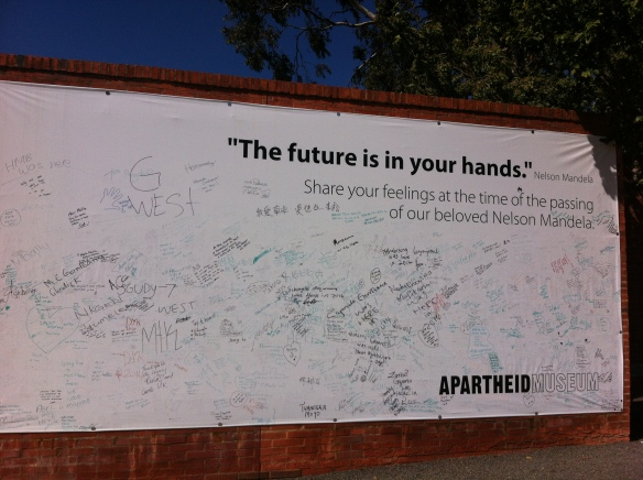 Outside the Apartheid Museum