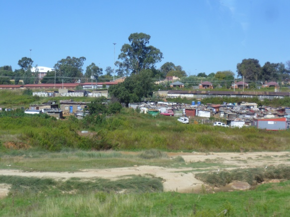 the 'unofficial' housing in Soweto