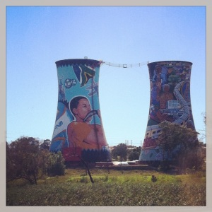 Amazing use of space for art in Soweto