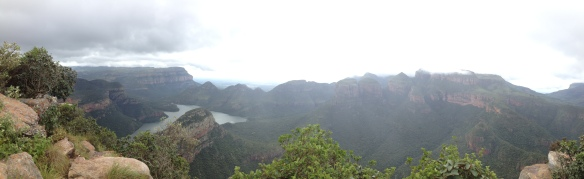 Panoramic of Blyde River Canyon - the rain stopped just long enough to get a couple of photos in