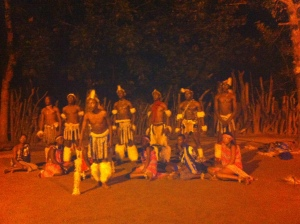 Boma Dinner - traditional South African dancing and music- the energy these dancers have is amazing!