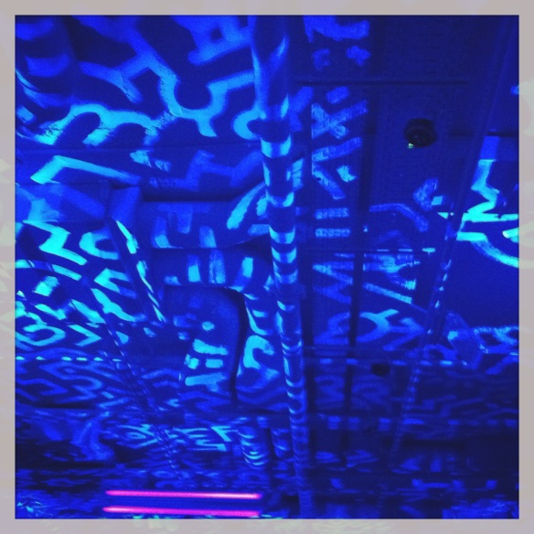 Fabulous black lights and fluresent ceilings