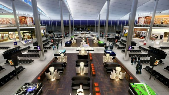 Concept art of Terminal 2 departure lounge