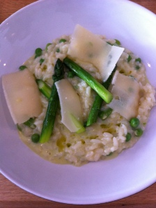Risotto, Green Vegetables, Parmesan - delectable!