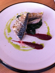 Mackrel, Spinach, Beetroot