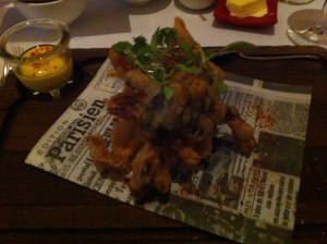 soft shell crab and aioli