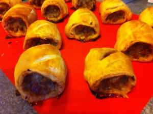 Golden brown gorgeous sausage rolls!