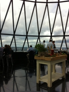 Dining in the dome of the Gherkin