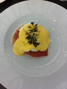 Serrano Ham Eggs Benedict