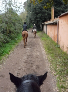 Riding along the Appian Way