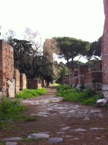 Ostia, where nature is coexists with ruins