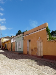 The brightly coloured houses and cobbled streets of Trinidad
