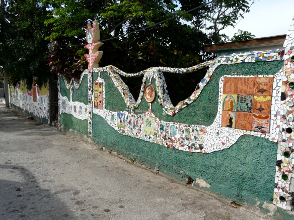 The colourful walls around the neighbourhood