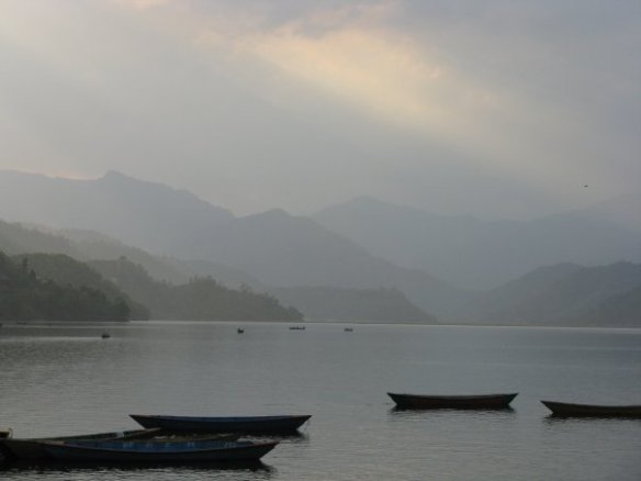 The beautiful Pokhara Lake