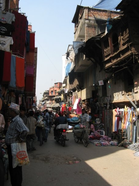 The narrow chaotic streets of Kathmandu, shops pouring out onto the streets, people selling things from everywhere. It can feel a little chlostraphobic but you get used to it - this is a way of life that has not changed, the warren of streets that spread through the city.