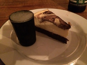 Cheesecake with a frozen shot!