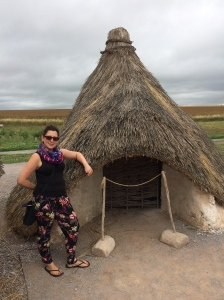 My snazzy stonehenge hut!